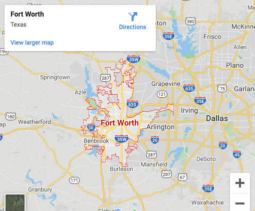 Map of Crime Scene Clean Up Fort Worth Office