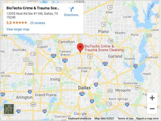 Suicide Cleanup Company Dallas